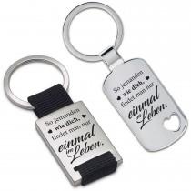 Metall Schlüsselanhänger - So jemanden wie dich ...