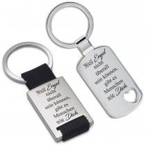 Metall Schlüsselanhänger - Weil Engel nicht überall sein können, gibt es Menschen wie Dich.