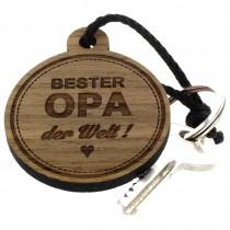 Gravur Schlüsselanhänger aus Holz - bester Opa