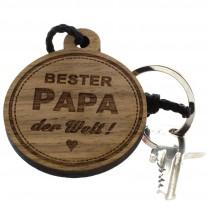 Gravur Schlüsselanhänger aus Holz - bester Papa