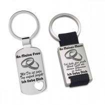 Metall Schlüsselanhänger - An meine Frau - An meinen Mann