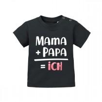 Babyshirt - Modell: Mama+Papa=ich