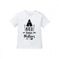 Babyshirt - Modell: Neu im Stamm - individualisierbar