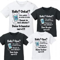Babyshirt: Hallo? Onkel / Opa?