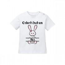 Babyshirt: Osterhäschen (Mädels, personalisierbar)