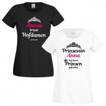Shirts zum Junggesellinnenabschied - Prinzessin und Hofdamen - individualisierbar
