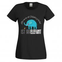 Funshirt weiß oder schwarz, als Tanktop oder Shirt - Alles was nix mit Elefanten zu tun hat....