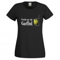 Funshirt weiß oder schwarz - als Tanktop, Damen- oder Herrenshirt - Nach mir die Ginflut