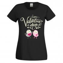Funshirt weiß oder schwarz, als Tanktop oder Shirt - Happy Valentine's Day!