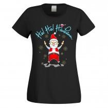 Funshirt weiß oder schwarz, als Tanktop oder Shirt - Ho! Ho! Haahaaaa...