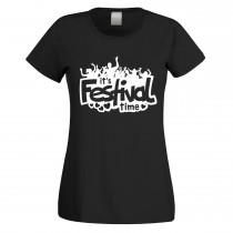 Funshirt weiß oder schwarz - als Tanktop, oder Shirt - it's Festival time