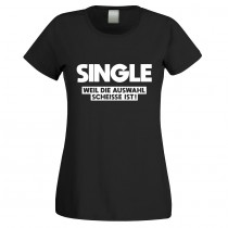 Funshirt weiß oder schwarz, als Tanktop oder Shirt - Single