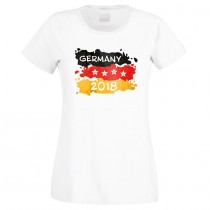 WM-Shirt weiß - als Tanktop, Babybody, Kinder, Damen oder Herrenshirt - Germany 2018