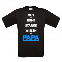 Funshirt weiß oder schwarz, als Tanktop oder Shirt - Mut Ruhe Stärke Wissen