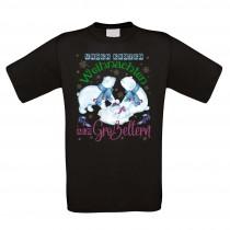 Funshirt weiß oder schwarz, als Tanktop oder Shirt - Unser erstes Weihnachten als Großeltern.