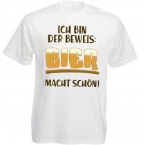 Funshirt weiß oder schwarz, als Tanktop oder Shirt - Bier macht schön!