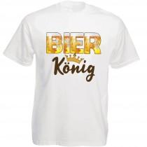 Funshirt weiß oder schwarz, als Tanktop oder Shirt - Bierkönig