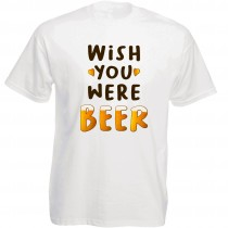 Funshirt weiß oder schwarz, als Tanktop oder Shirt - Wish you were beer
