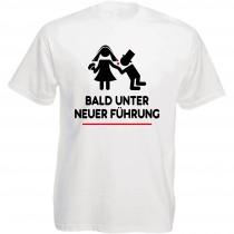 Funshirt weiß oder schwarz - als Tanktop oder Shirt - Bald unter neuer Führung
