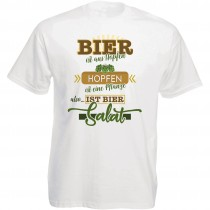 Funshirt weiß oder schwarz, als Tanktop oder Shirt - Bier ist aus Hopfen...Hopfen ist eine Pflanze...