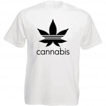 Funshirt weiß oder schwarz, als Tanktop oder Shirt - Cannabis