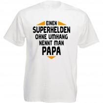 Funshirt weiß oder schwarz, als Tanktop oder Shirt - Einen Superhelden ohne Umhang nennt man Papa