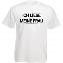 Funshirt weiß oder schwarz, als Tanktop oder Shirt - Ich liebe es, wenn meine Frau...