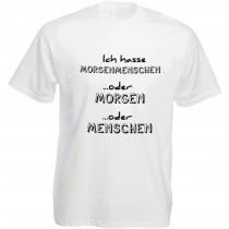 Funshirt weiß oder schwarz - als Tanktop, Damen- oder Herrenshirt - Ich hasse Morgenmenschen