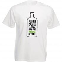 Funshirt weiß oder schwarz - als Tanktop, Damen- oder Herrenshirt - Nah am Wodka