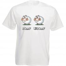 Funshirt weiß oder schwarz, als Tanktop oder Shirt - Schaf - unschaf...