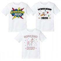 """Kindershirt: Schulkind 2020 """"verschiedene Motive zur Auswahl"""