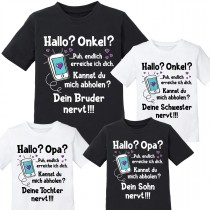 Kindershirt: Hallo? Onkel / Opa?