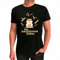 """Funshirt weiß oder schwarz - Hamster """"Für besch... Zeiten"""""""