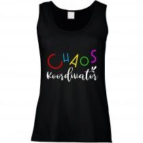 Funshirt weiß oder schwarz, als Tanktop oder Shirt - Chaos-Koordinator.
