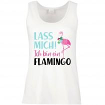 Funshirt weiß oder schwarz, als Tanktop oder Shirt - Ich bin ein Flamingo