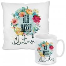 Kissen oder Tasse: Ich hasse Valentinstag.