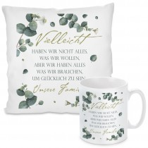 Kissen oder Tasse mit Motiv - Unsere Familie.....
