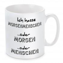 Tasse mit Motiv Modell: Morgenmenschen