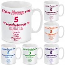 Tasse mit Motiv - Stolze Mama / Tante / Oma, stolzer Papa / Onkel / Opa
