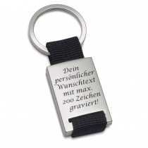 Lieblingsmensch Textilband Schlüsselanhänger mit Wunschgravur