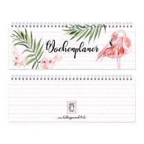 """Herzbotschaft Tischkalender / Wochenplaner """"Flamingo"""""""
