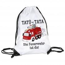 Turnbeutel: TATÜ-TATA-Die Feuerwehr ist da.