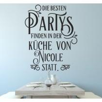 """Wandtattoo """"Die besten Partys... mit Wunschnamen"""""""