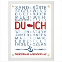 Wandbild:  Du & Ich (personalisierbar)