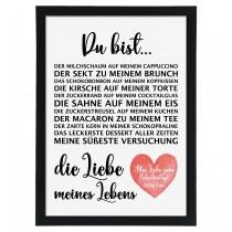Wandbild: Die Liebe meines Lebens (personalisierbar)