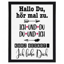 Wandbild: Hallo Du