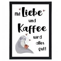 Wandbild: Liebe und Kaffee