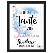 Wandbild:  Stolze Tante (personalisierbar)