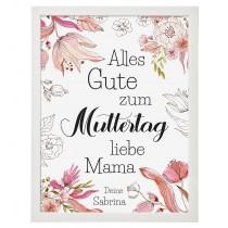 Wandbild: Alles Gute zum Muttertag (personalisierbar)