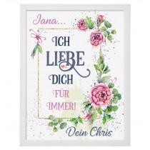 Wandbild: Ich liebe Dich für immer (personalisierbar)